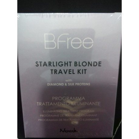 NOOK BFREE STARLIGHT BLONDE TRAVEL KIT SH 100 ML + PAK 50 ML